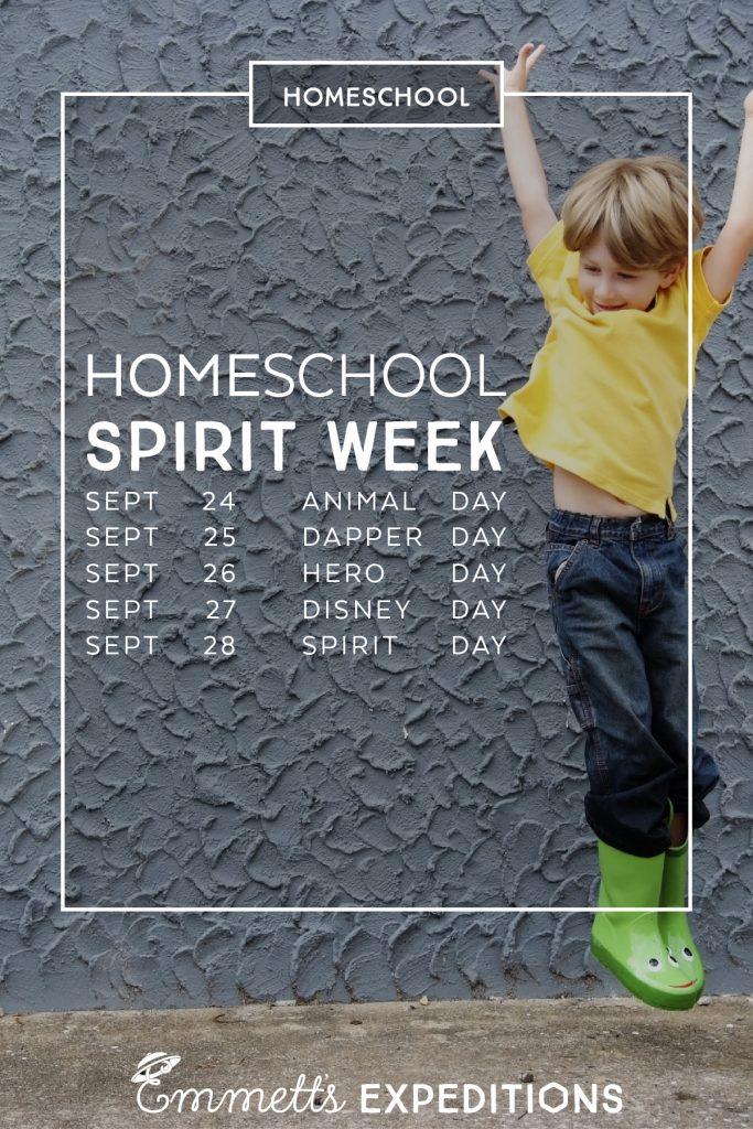 pin homeschool spirit week